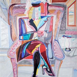 Femme Assise – 100 X 80